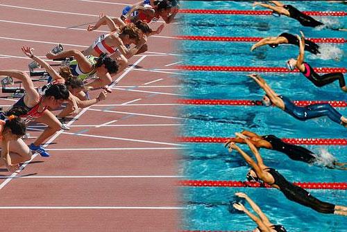 Atletismo y natacion