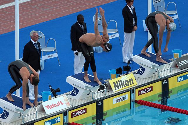 Michael Phelps en las semifinales de los 200 mariposa en el Mundial del 2009