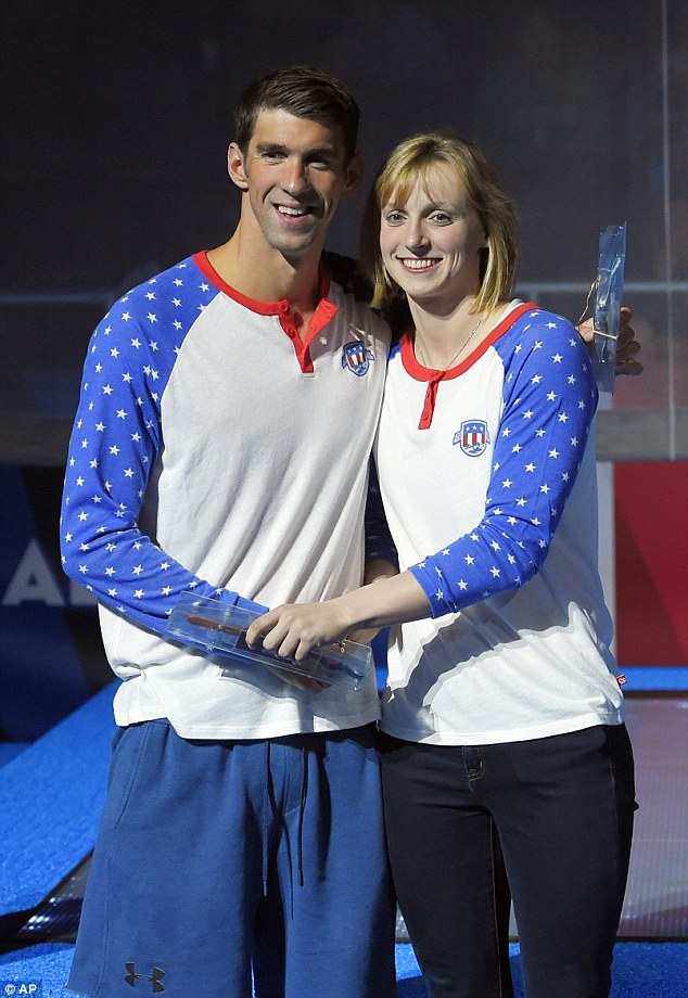 ¿Cuánto mide Michael Phelps? - Real height Ledecky-and-Phelps